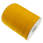 Organza Ribbon, asnjë, asnjë, thellë të verdhë, 1cm, :2500Oborr, 5PC/Shumë,  Shumë
