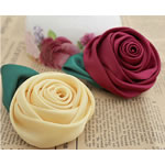 Mëndafsh, Lule, asnjë, asnjë, ngjyra të përziera, 60x60mm, 25PC/Shumë,  Shumë