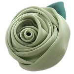 Mëndafsh, Lule, asnjë, asnjë, çaj jeshil, 60x60mm, 25PC/Shumë,  Shumë