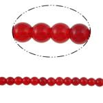 Beads Round Crystal, Kristal, Siam, 8mm, : 1.5mm, :12Inç, 10Fillesat/Qese,  Qese