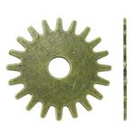 Connector Zink Alloy, Alloy zink, Lule, Ngjyra antike bronz i praruar, asnjë, asnjë, , nikel çojë \x26amp; kadmium falas, 25x25x1mm, : 5mm, 450PC/KG,  KG