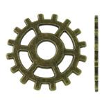 Connector Zink Alloy, Alloy zink, Round Flat, Ngjyra antike bronz i praruar, asnjë, asnjë, , nikel çojë \x26amp; kadmium falas, 25x25x1mm, : 5.5mm, 410PC/KG,  KG