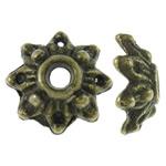 Alloy zink Bead Cap, Lule, Ngjyra antike bronz i praruar, asnjë, asnjë, , nikel çojë \x26amp; kadmium falas, 8x8x3mm, : 2mm, 5000PC/KG,  KG