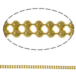 Tunxh Ball Chain, Shape Tjera, ngjyrë ari praruar, asnjë, asnjë, , nikel çojë \x26amp; kadmium falas, 3.2x1.5mm, : 100m,  PC