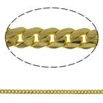 Tunxh Zinxhiri Curb, Shape Tjera, ngjyrë ari praruar, asnjë, asnjë, , nikel çojë \x26amp; kadmium falas, 3.8x1.3mm, : 100m,  PC