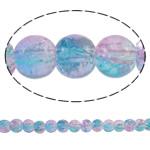 Glass Beads kërcitje, Xham, Round, asnjë, ngjyrat e ylberit, 5mm, : 1mm, : 31.5Inç, 10Fillesat/Qese, approx228Pcs/Strand,  Qese