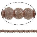 Stardust Glass Beads, Xham, Round, asnjë, bojë kafe, 6mm, : 1mm, : 32.2Inç, 10Fillesat/Qese, approx145Pcs/Strand,  Qese