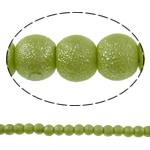 Stardust Glass Beads, Xham, Round, asnjë, mollë jeshile, 6mm, : 1mm, : 31.8Inç, 10Fillesat/Qese, approx145Pcs/Strand,  Qese