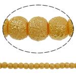 Stardust Glass Beads, Xham, Round, asnjë, të verdhë të artë, 6mm, : 1mm, : 32.2Inç, 10Fillesat/Qese, approx161Pcs/Strand,  Qese