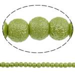 Stardust Glass Beads, Xham, Round, asnjë, mollë jeshile, 8mm, : 1mm, : 31.5Inç, 10Fillesat/Qese, approx130Pcs/Strand,  Qese
