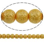 Stardust Glass Beads, Xham, Round, asnjë, të verdhë të artë, 10mm, : 1mm, : 31.5Inç, 10Fillesat/Qese, approx83Pcs/Strand,  Qese