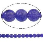 Glass Beads kërcitje, Xham, Round, asnjë, hyacinthine, 10mm, : 1mm, : 31.5Inç, 10Fillesat/Qese, approx83Pcs/Strand,  Qese