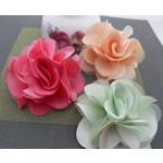Saten Ribbon, with Silk pe, asnjë, asnjë, ngjyra të përziera, 100x100mm, 30PC/Shumë,  Shumë