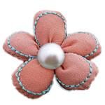 Leckë, with Glass Pearl, Lule, asnjë, asnjë, rozë, 40x40mm, 50PC/Shumë,  Shumë
