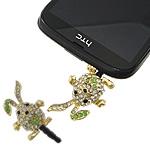 Pluhuri kufje Jack Cap priza, Alloy zink, with Plastik, Lepur, ngjyrë ari praruar, me diamant i rremë, asnjë, , nikel çojë \x26amp; kadmium falas, 22x30x12mm, 41mm, 30PC/Qese,  Qese