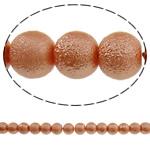 Stardust Glass Beads, Xham, Round, asnjë, kuq pak portokalli, 10mm, : 1mm, : 31.5Inç, 10Fillesat/Qese, approx83Pcs/Strand,  Qese