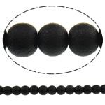 Stardust Glass Beads, Xham, Round, asnjë, e zezë, 10mm, : 1mm, : 31.5Inç, 10Fillesat/Qese, approx83Pcs/Strand,  Qese