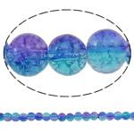 Glass Beads kërcitje, Xham, Round, asnjë, dy-ton, asnjë, 6mm, : 1mm, : 31.5Inç, 10Fillesat/Qese, approx145Pcs/Strand,  Qese