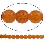 Glass Beads kërcitje, Xham, Round, asnjë, portokall, 10mm, : 1.5mm, : 31.5Inç, 10Fillesat/Qese, approx83Pcs/Strand,  Qese