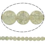 Glass Beads kërcitje, Xham, Round, asnjë, krem të verdhë, 10mm, : 1.5mm, : 31.5Inç, 10Fillesat/Qese, approx83Pcs/Strand,  Qese