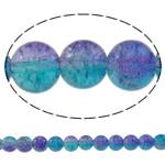 Glass Beads kërcitje, Xham, Round, asnjë, dy-ton, asnjë, 10mm, : 1.5mm, : 31.5Inç, 10Fillesat/Qese, approx83Pcs/Strand,  Qese