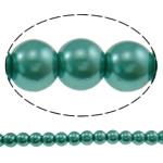 Pjekje llak Glass Beads, Xham, Round, stoving llak, asnjë, e gjelbër, 8mm, : 1mm, : 31.5Inç, 10Fillesat/Qese, approx110Pcs/Strand,  Qese