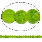 Glass Beads kërcitje, Xham, Round, asnjë, mollë jeshile, 5mm, : 1mm, : 31.5Inç, 10Fillesat/Qese, approx 210Pcs/Strand,  Qese