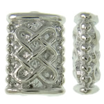 Beads bizhuteri Alloy zink, Drejtkëndësh, ngjyrë platin praruar, asnjë, asnjë, , nikel çojë \x26amp; kadmium falas, 5x7x2.50mm, : 1mm, 2500PC/KG,  KG