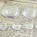 Cabochons Glass, Xham, Kube, asnjë, i tejdukshëm, qartë, 35x35x7.50mm, 120PC/Qese,  Qese