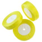 Organza Ribbon, asnjë, asnjë, i verdhë, 25mm, : 250Oborr, 5PC/Qese,  Qese