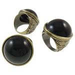 Zink Alloy Ring Finger, Alloy zink, with Rrëshirë, Shape Tjera, Ngjyra antike bronz i praruar, asnjë, asnjë, , nikel çojë \x26amp; kadmium falas, 27.50x27x32.50mm, : 18mm, :8, 12PC/Qese,  Qese