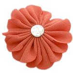 Leckë, with Rrëshirë diamant i rremë, Lule, asnjë, me rrëshirë diamant i rremë, portokalli thellë kuqalashe, 45x45mm, 100PC/Shumë,  Shumë