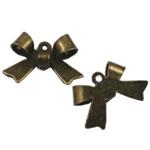 Pendants Zink Alloy, Alloy zink, Bowknot, Ngjyra antike bronz i praruar, asnjë, asnjë, , nikel çojë \x26amp; kadmium falas, 11x16mm, : 2mm, 1200PC/Qese,  Qese
