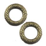 Alloy zink Lidhja Ring, Round, Ngjyra antike bronz i praruar, asnjë, asnjë, , nikel çojë \x26amp; kadmium falas, 16.50x16.50mm, 300PC/Qese,  Qese