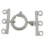 Pranvera Brass Ring kapje, Tunxh, Shape Tjera, ngjyrë platin praruar, 3-fije floku, asnjë, , nikel çojë \x26amp; kadmium falas, 12mm, 18x2mm, : 2mm, 200PC/Shumë,  Shumë
