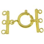 Pranvera Brass Ring kapje, Tunxh, Shape Tjera, ngjyrë ari praruar, 3-fije floku, asnjë, , nikel çojë \x26amp; kadmium falas, 12mm, 18x2mm, : 2mm, 200PC/Shumë,  Shumë