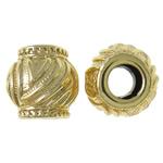 Beads bizhuteri Alloy zink, Daulle, ngjyrë ari praruar, vrimë e madhe, asnjë, , nikel çojë \x26amp; kadmium falas, 13x12.5mm, : 5.5mm, 20PC/Qese,  Qese