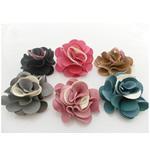 Velveteen, Lule, asnjë, ngjyra të përziera, 48x48mm, 100PC/Shumë,  Shumë
