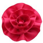 Saten Ribbon, asnjë, asnjë, kuqe të ndritshme rozë, 75x75mm, 40PC/Shumë,  Shumë