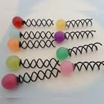 Stick flokët, Alloy zink, with Xham, Round, pikturë, asnjë, ngjyra të përziera, , nikel çojë \x26amp; kadmium falas, 65x20mm, 100PC/Shumë,  Shumë