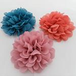 Silk pe, Lule, asnjë, asnjë, ngjyra të përziera, 90x90mm, 40PC/Shumë,  Shumë