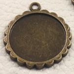Zink Alloy varëse Setting, Alloy zink, Lule, Ngjyra antike bronz i praruar, asnjë, asnjë, , nikel çojë \x26amp; kadmium falas, 24x24x2mm, : 2mm, : 20mm, 200PC/Qese,  Qese