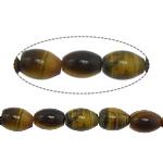 Tigerauge Perlen, oval, 8x6mm, Bohrung:ca. 1mm, ca. 47PCs/Strang, verkauft per ca. 15.5 ZollInch Strang