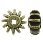 Beads bizhuteri Alloy zink, Rondelle, Ngjyra antike bronz i praruar, asnjë, asnjë, , nikel çojë \x26amp; kadmium falas, 12x6mm, : 2.5mm, 470PC/KG,  KG