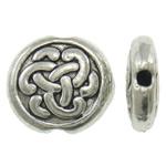 Beads bizhuteri Alloy zink, Round Flat, Ngjyra antike argjendi praruar, asnjë, asnjë, , nikel çojë \x26amp; kadmium falas, 9x3mm, : 1mm, 900PC/KG,  KG