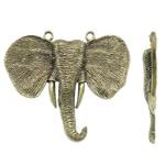 Pendants Zink Alloy Kafshëve, Alloy zink, Elefant, Ngjyra antike bronz i praruar, asnjë, asnjë, , nikel çojë \x26amp; kadmium falas, 95x80x11mm, : 4mm, 10PC/Qese,  Qese