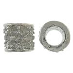 Beads Zink Alloy Vendosja, Alloy zink, Tub, ngjyrë platin praruar, asnjë, asnjë, , nikel çojë \x26amp; kadmium falas, 10.50x10x6mm, : 6mm, 410PC/KG,  KG