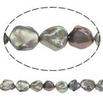 Reborn Beads kulturuar Pearl ujërave të ëmbla, Pearl kulturuar ujërave të ëmbla, Barok, i lyer, asnjë, vjollcë, 12mm, : 0.8mm, :15.7Inç,  15.7Inç,