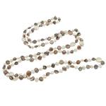 Natyrore ujërave të ëmbla Pearl gjerdan, Pearl kulturuar ujërave të ëmbla, i lyer, asnjë, asnjë, 6-8mm, :47Inç,  47Inç,