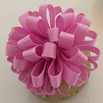 Saten Ribbon, asnjë, asnjë, rozë, 50x50mm, 40PC/Shumë,  Shumë